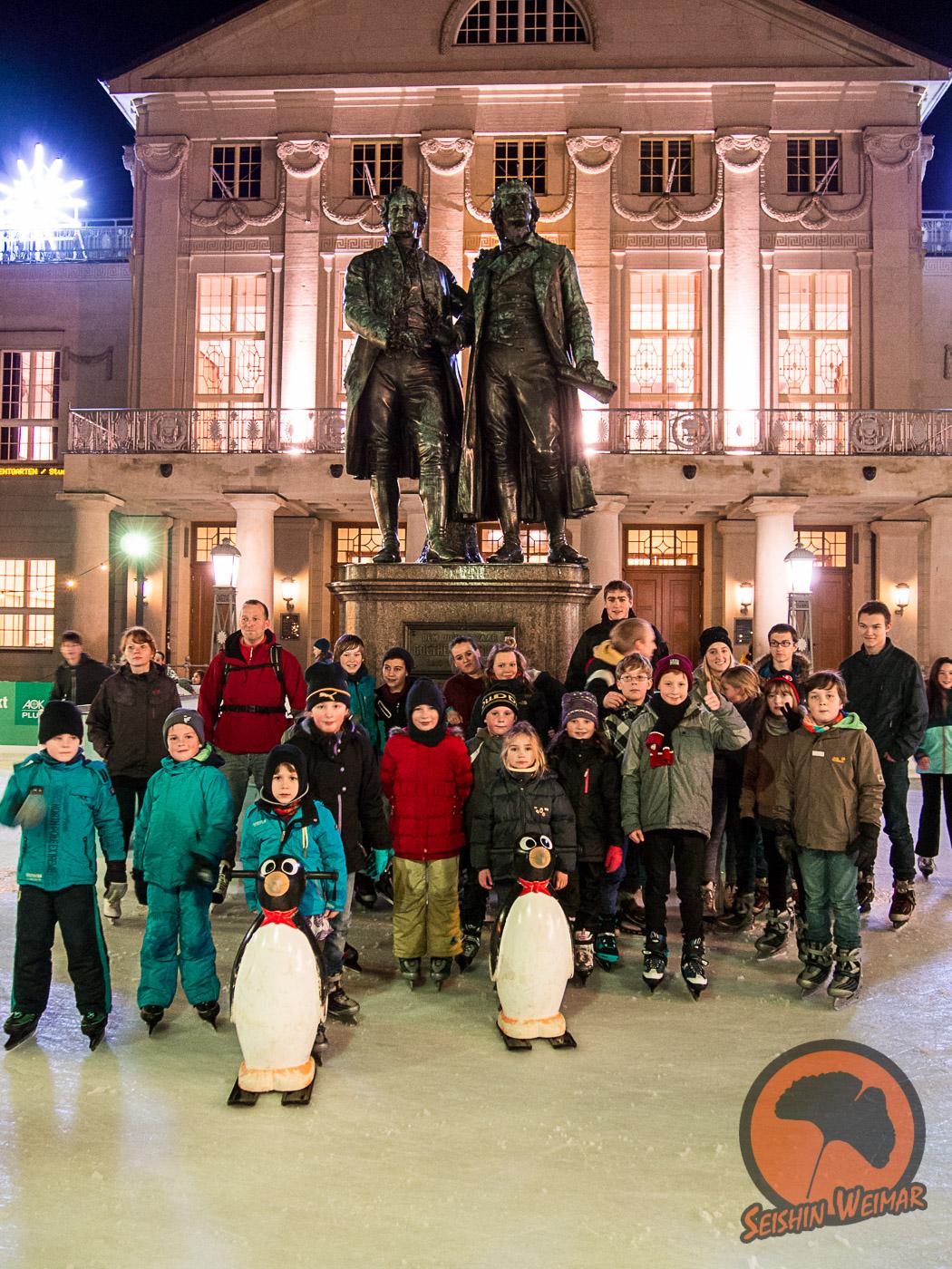 Eislaufen mit Goethe und Schiller 2014